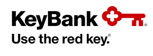 KeyBank logo with red key